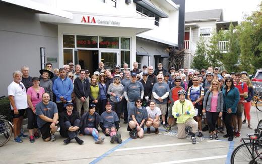 Cyclists Gather