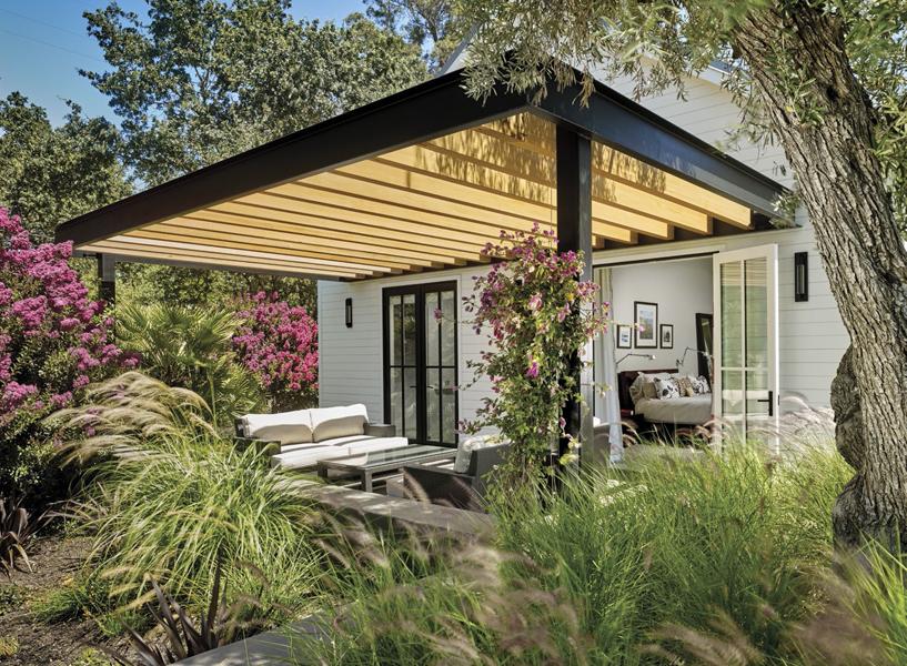 backyard farmhouse