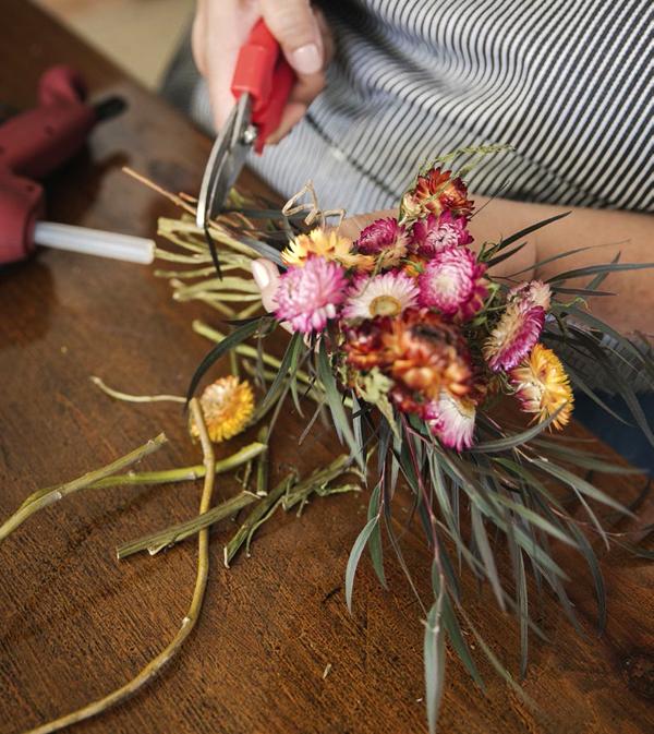 Hand cut organic flowers