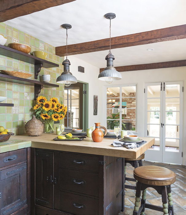 vintage meets modern kitchen