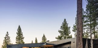 """IT WAS ONLY NATURAL that Erik Christoffersen would build a thoroughly modern vacation home in Martis Camp, the private luxury development outside of Truckee. The five-bedroom, 5,923-square-foot home is laid out """"like an accordion in terms of how it functions,"""" explains Christoffersen."""