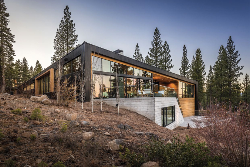 Architect Blaze Makoid intended for the modern home to be 'nestled into the landscape.'