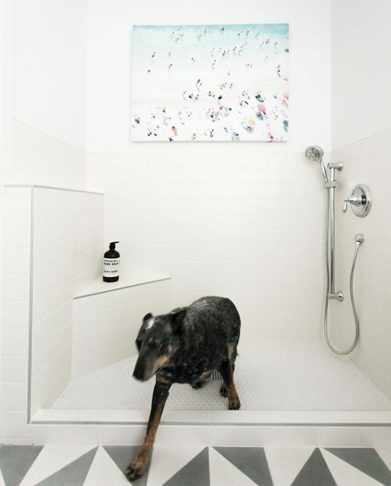 laundry room shower