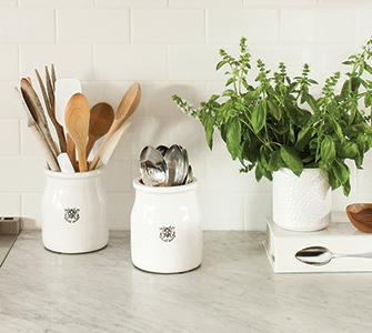 herbs and utensils
